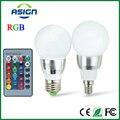 E27 LED RGB Лампа AC110V 220 В 5 Вт E14 Пятно Света затемнения Волшебный Праздник RGB Освещения ИК-Пульт Дистанционного Управления 16 Цветов 270 степень