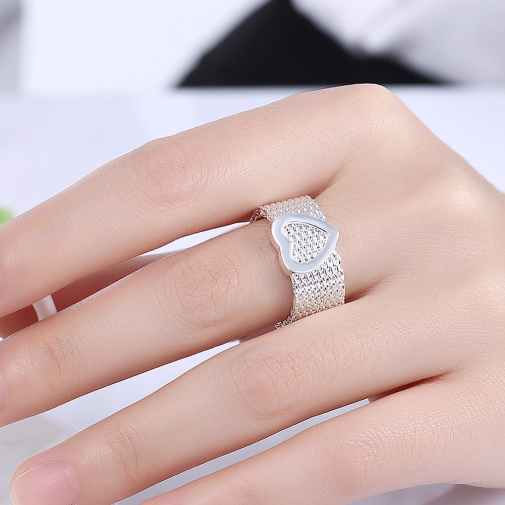 Wide 11cm Reticular Weave charms big soft rings finger wear 10mm ...