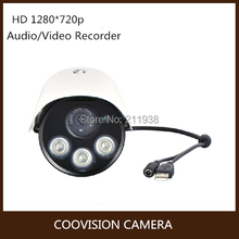 720p HD 1Megapixel 3 pieces array led outdoor waterproof 50m hd sd card recording camera dvr