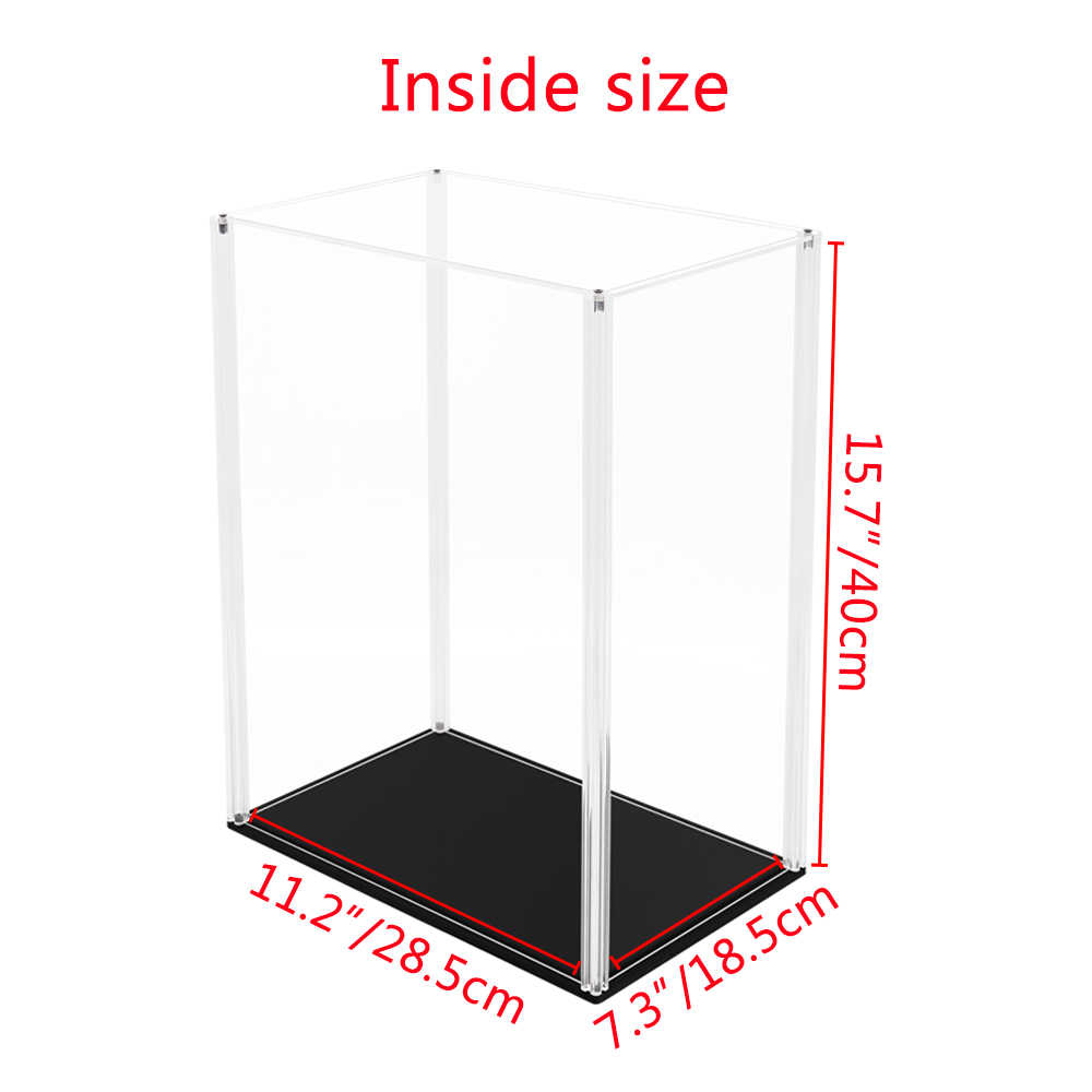 Estuche de exposición de acrílico de 41cm H de Odoria, caja Perspex a prueba de polvo UV para trofeos figura a escala 1/6 coleccionables, autoinstalación, tamaño grande
