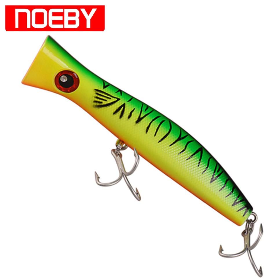 NOEBY Popper Bait 200mm/115.2g France VMC Hook Isca Artificial Para Pesca Fishing Tackle Leurre Souple Fishing Wobbler Lure fishing lure kit 132pcs mixed minnow popper spinner spoon metal lure with hook isca artificial bait fish tackle set pesca