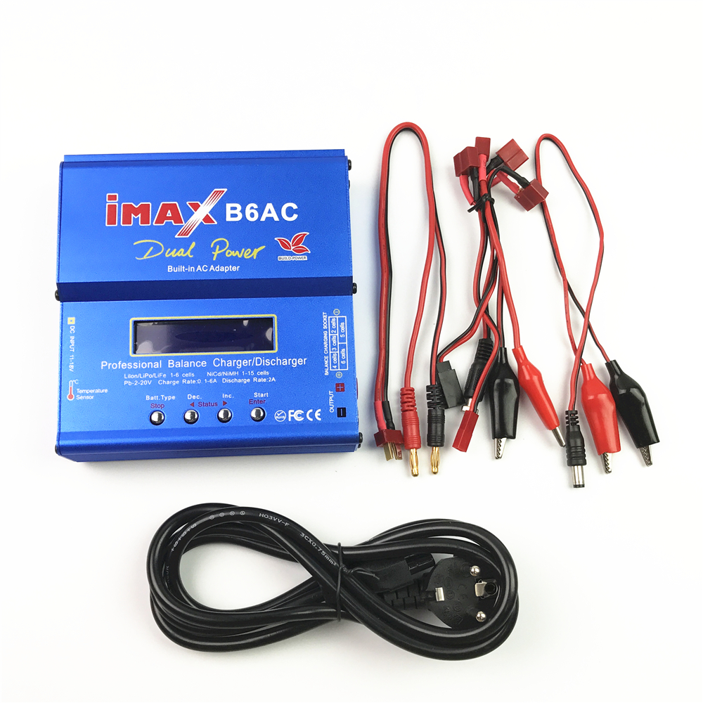 lipo Charger IMAX B6 AC Battery Balance Charger Lipo Nimh Nicd Battery Digital Charger Charging Turnigy adapter with LCD Screen