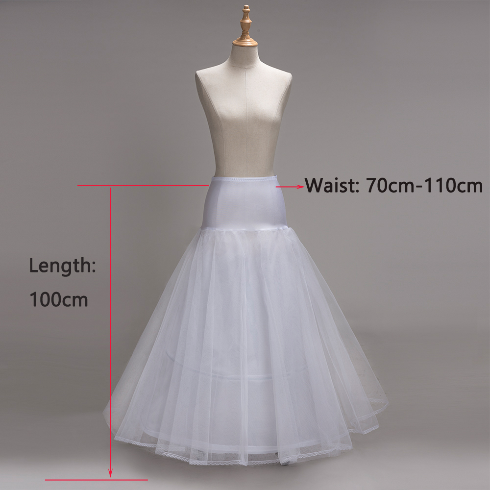 Купить с кэшбэком high quality A-Line Petticoats For Wedding Dress Cheap Free Size Crinoline 2 hoops Petticoat Underskirt Slip With Lace Trim 2019
