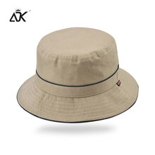 b372ac50793 ADK Sunscreen Fishman Hat Unisex Panama Caps Round Summer Solid Color  Fisherman High Quality Simple Nylon Hats