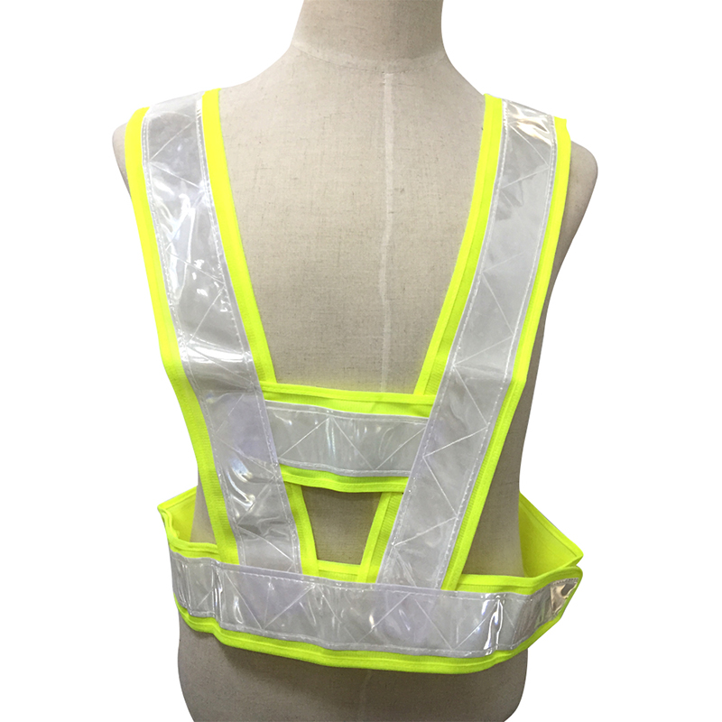 security Labor Personal protection traffic Neon Lime Yellow Reflective Vest V Clothing High Visibility Safety Belt  FC