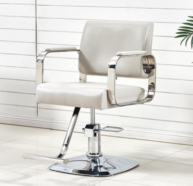 New Hairdressing Chair Hair Salon Special Barber Shop Hair Salon Haircut Chair Stainless Steel Armrest Barber Chair Can Be Raise