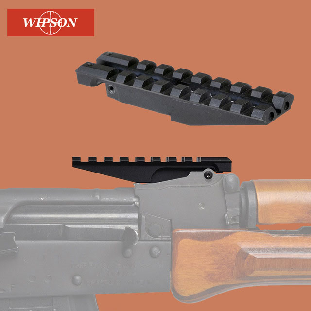 WIPSON AK Rear Sight Rail Mount 100mm Picatinny Weaver 20mm Scope Mount Base For Hunting Red Dot Optics AK47 AK74 Adapter