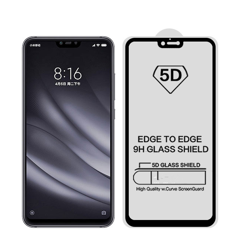 50pcs lot 5D Full Tempered Glass For Xiaomi MI Redmi 8 Pro 8se 8Lite Note 6