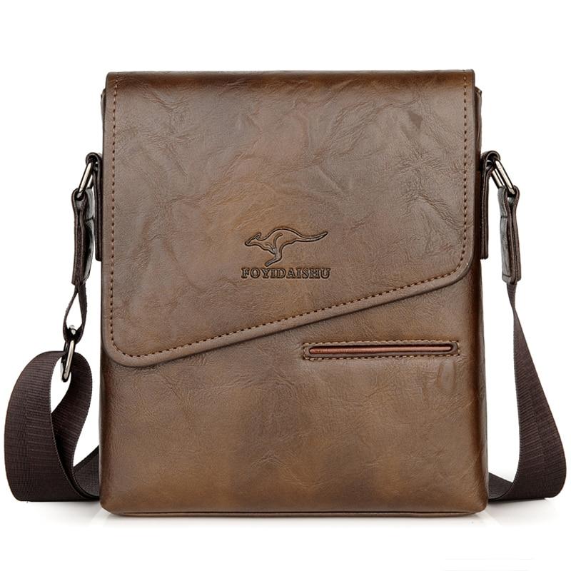Image 2 - Summer Luxury Brand Kangaroo Messenger Bags Men Leather Casual Crossbody Bag For Men Business Shoulder Bag Male Small Handbag-in Waist Packs from Luggage & Bags