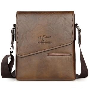 Image 2 - Summer Luxury Brand Kangaroo Messenger Bags Men Leather Casual Crossbody Bag For Men Business Shoulder Bag Male Small Handbag