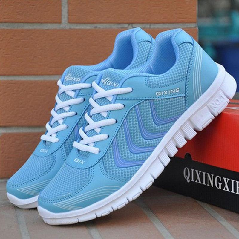 Summer Outdoor Walking Shoes Women Sneakers Breathable Flat Mesh Vulcanize Shoes Fashion Comfortable Women Casual Shoes DDT103 1