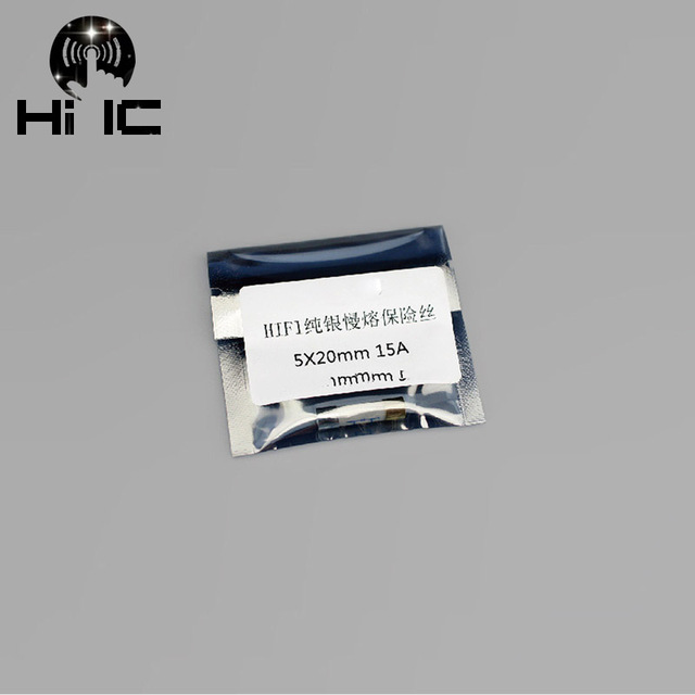 1PCS HIFI 4N Sterling silver Fuse CD Audio Amplifier Tube Amp Fuse 5*20mm 0.5A -15A Electronic Component AudioTube