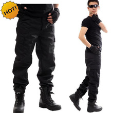 NEW 2019 Outdoors Cargo Overalls commando black Multi-pocket Labor protection security guard field jungle tactical pants