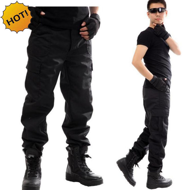 NEW 2020 Outdoors Cargo Overalls Commando Black Multi-pocket Labor Protection Security Guard Field Jungle Tactical Pants
