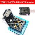 Top Calidad Chip programador QFP32 TQFP32 LQFP32 AL adaptador DIP28 socket apoyo serie ATMEGA8 TL866A TL866CS YAMACHI Marca