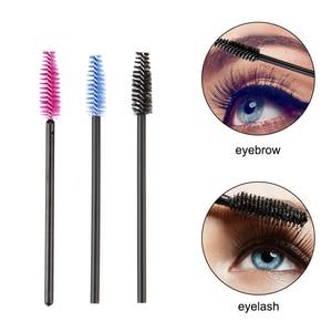 Image 4 - zwellbe 50Pcs Eyelash Eyebrow Makeup Brushes Disposable Mascara Wands Applicator Eyelash Extension Comb Beauty Cosmetic Tool