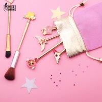 Free Shipping Card Captor Cardcaptor Sakura 20th Anniversary Sailor Moon Makeup Brush Cosmetic Brush Wands Foundation