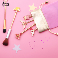 Free Shipping Card Captor Cardcaptor Sakura 20th Anniversary Sailor Moon Makeup Brush Cosmetic Brush Wands Foundation