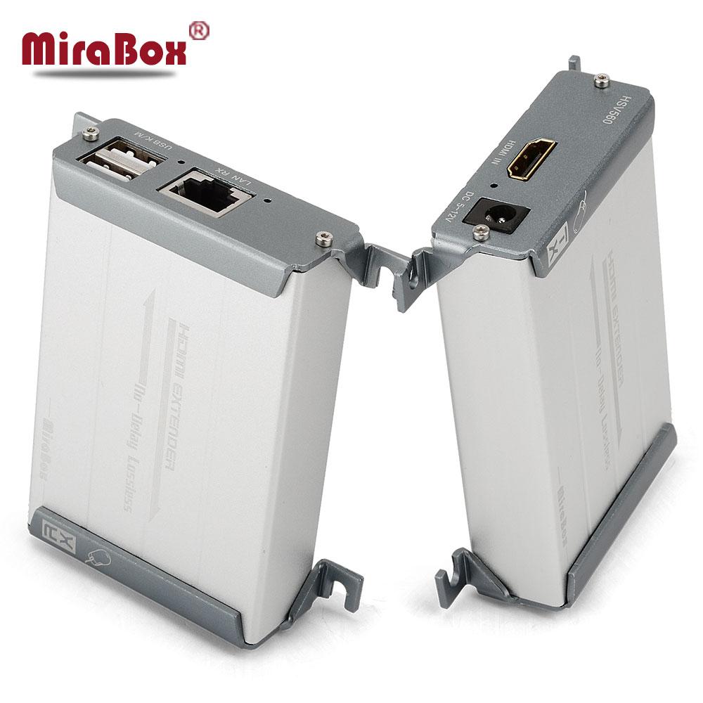 HSV560 KVM Extender HDMI Extender Una Coppia Su cavo Cat Cavo Supporto Tastiera E Mouse USB di Trasmissione Fino A 60-80 m KVM Extender