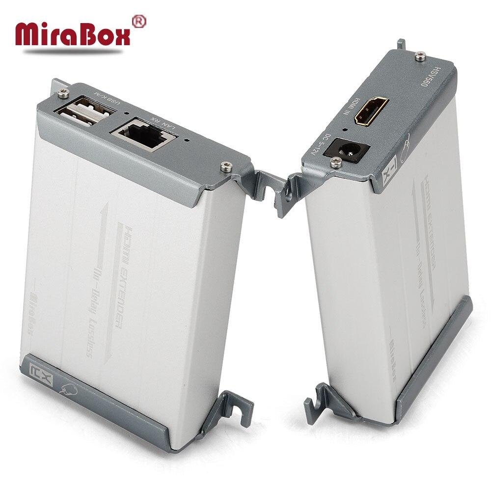 HSV560 KVM Extender HDMI Extender Une Paire Sur Chat Support de Câble USB Clavier Et Souris Transmettre Jusqu'à 60-80 m KVM Extender