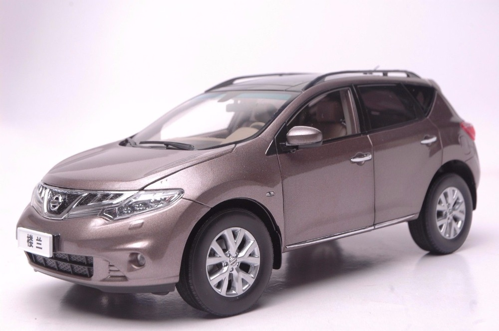 <font><b>1:18</b></font> <font><b>Diecast</b></font> Model for <font><b>Nissan</b></font> Murano 2011 Brown SUV Alloy Toy <font><b>Car</b></font> Miniature Collection Gift image