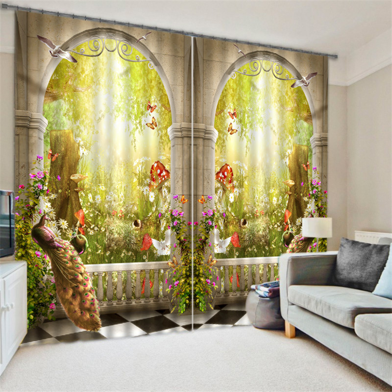 Luxury Elegent 3D wonderland Photo Printing Blackout Window Curtain For Living room Bedding room Decoration Drapes CortinasLuxury Elegent 3D wonderland Photo Printing Blackout Window Curtain For Living room Bedding room Decoration Drapes Cortinas
