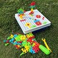 Детские электрические сверлильные гайки  инструмент для разборки  Обучающие игрушки  наборы сборных блоков  строительные игрушки  2019