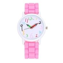Высокое качество белый чехол силиконовый ремень детей часы карандаш указатель часы Мода Девушки Дети краски часы; оптовая продажа; Прямая поставка;
