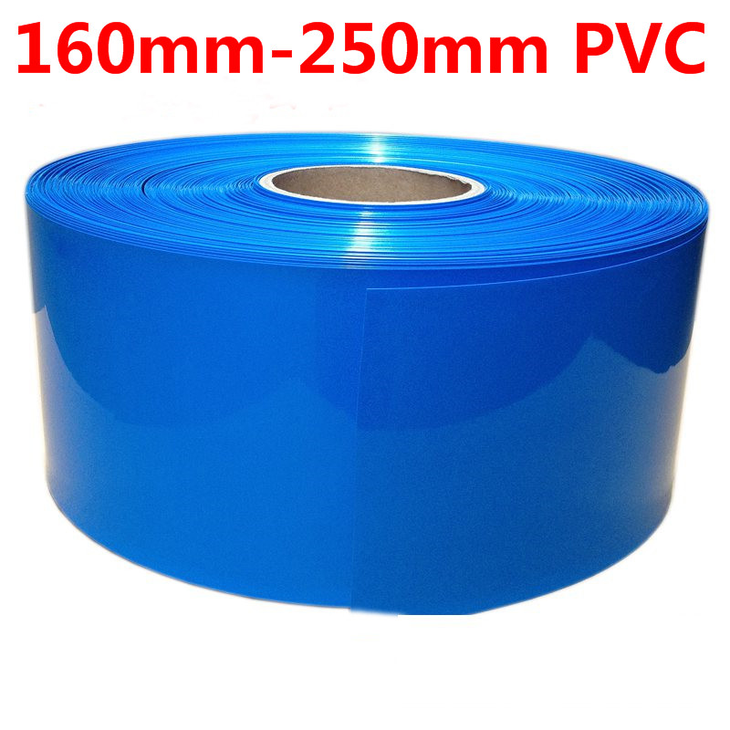 160mm~250mm 5KG Blue Color PVC Heat Shrink Wrap For 18650 26650 32650 Battery Pack