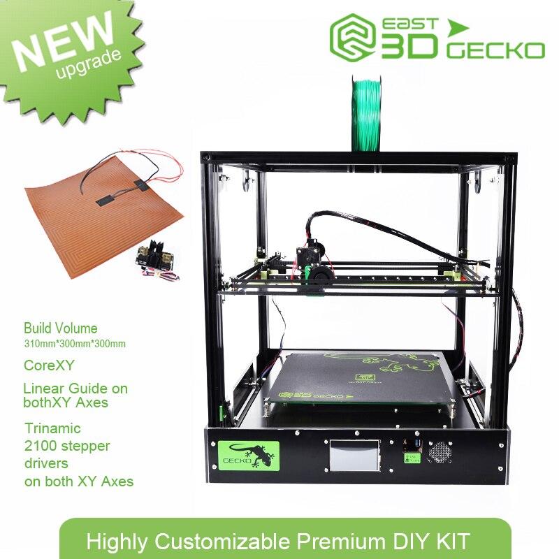 Core XY-Orient 3D Gecko Structure DIY Kit avec chaleur lit grande taille d'impression avec clone Titan extrudeuse 3D Imprimante