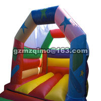 PVC 4 35 X 3 45 M Tarpaulin Small Inflatable Bouncer With Slide Inflatable Combo Inflatable