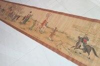 Ручная роспись Китайские картины, фотография длинной оси Династии Сун в Китае, ляо федерального цифры картину жизни, L8.8m