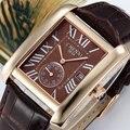 2017 diseño clásico rectangular chenxi hombres relojes de marca de lujo de cuero con estilo mujeres del reloj de señoras vestido reloj de pulsera reloj hombre