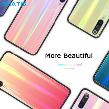 Colorful Cover Case for iPhone XS 7 MAX 6S 8 6 Plus Glitter Luxury Laser Tempered Glass Shockproof Aurora Gradient Waterproof