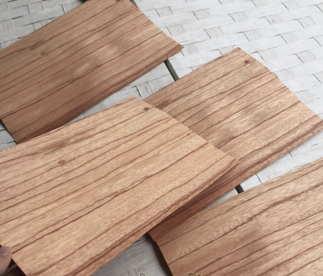 5 teile/los 25x16 cm Dicke: 0,5mm Natürliche Rote Rose Holz Clip Boden Teig Furnier