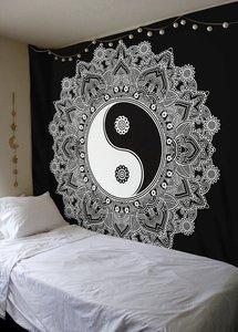 Image 5 - Indian Mandala Tapestry Wall Hanging Multifunctional Tapestry Boho Printed Bedspread Cover Mat Blanket Picnic cloth