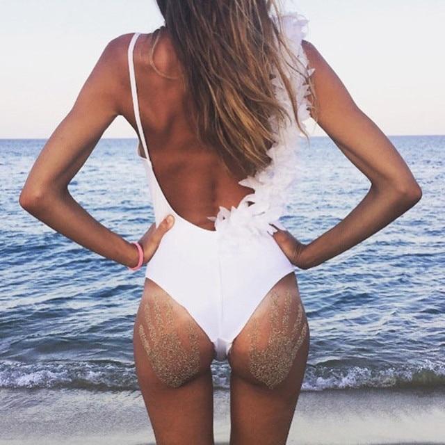 9718bdb3fb 2018 New Women One-Piece Swimsuit Sexy Backless Beachwear Swimwear Push-up  Monokini Back
