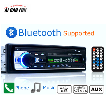12V 4*60W 1 Din Car Radios JSD520 Stereo Player Car MP3 Autoradio Bluetooth Player With AUX Input And Remote Control image