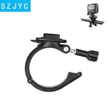купить SHOOT 360 Rotary Clamp Handlebar Pole Tube Mount for GoPro Hero 7 6 5 4 Xiaomi Yi 4K Eken Sjcam Action Cam for Go Pro Accessory дешево