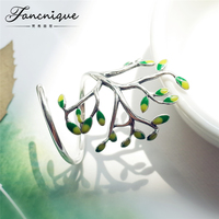 Newest Handmade Sterling Silver 925 Jewelry Tree Shaped Wraped Ring Fashion Design Women Silver Jewelry High