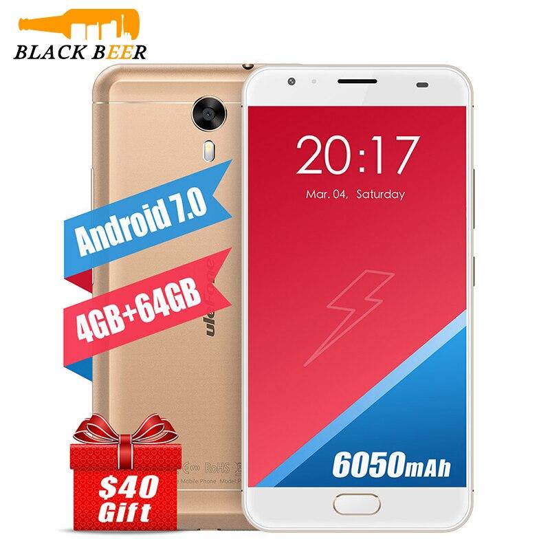 bilder für Ursprüngliches Ulefone Power 2 Handy MTK6750T Octa Core 5,5 ''Android 7.0 Smartphone 4 GB RAM 64 GB ROM 4G 6050 mAh Fingerabdruck ID