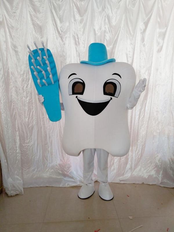 Publicité dent mascotte Costume docteur des dents parti soins dentaires personnage mascotte robe et parc d'attractions tenue santé éducation - 4
