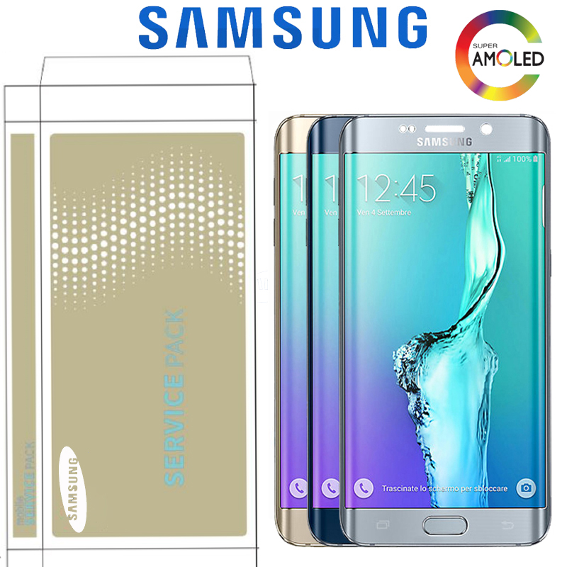 Original 5.7'' Display For Samsung Galaxy S6 Edge Plus G928 G928F SM-G928FD LCD Touch Screen Digitizer Assembly Replacement