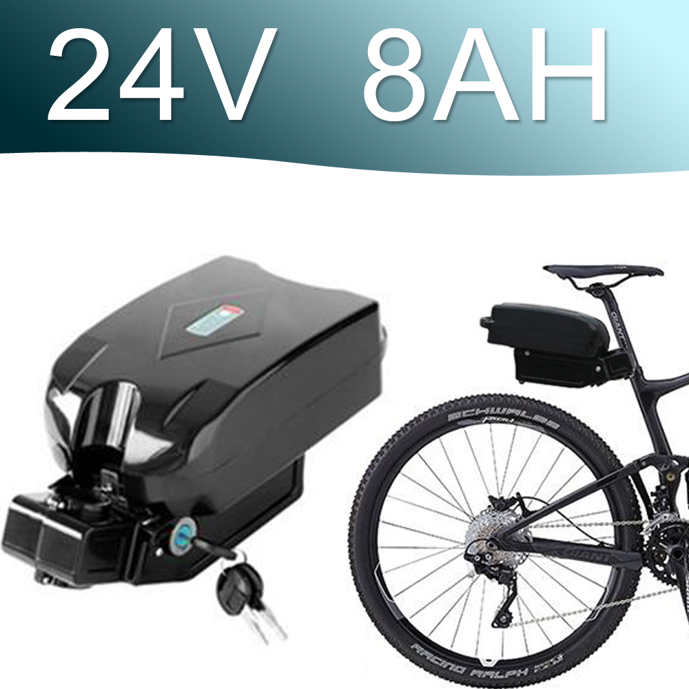 24V 8AH Lithium ion Battery fro g typ Rear Battery Pack 24V Electric bicycle 24v E-bike battery 24v Li-ion battery conhismotor electric bike lithium battery hallomotor ebike metal case h22p 24v 17 6ah seat tube li ion polymer battery pack