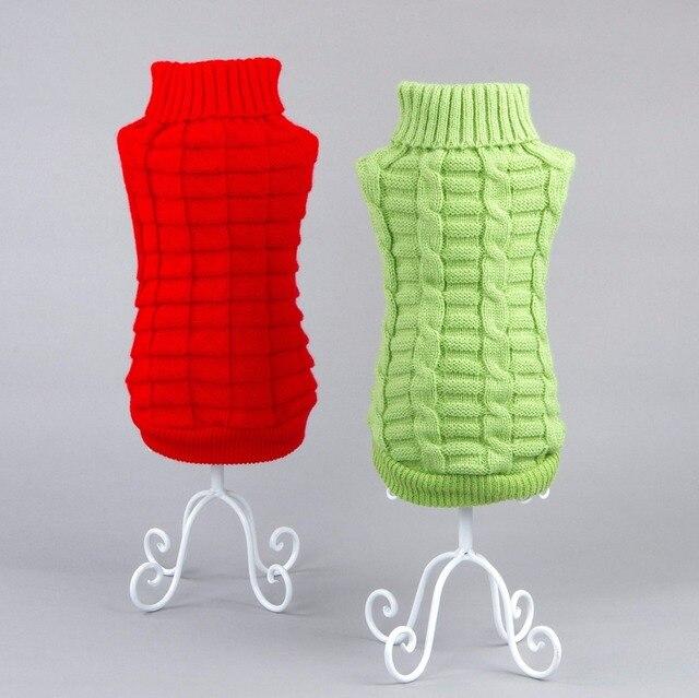 Hund Kleidung Einfarbigen Pullover Für Herbst Winter Warme Stricken