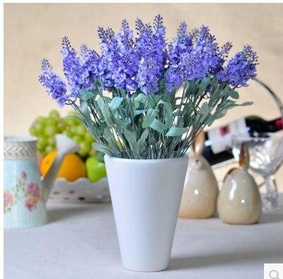 Bunga Sutra Buatan Lavender Ruang Tamu Plastik Hias Kain Rumah Deoration