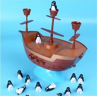 Intellectual toys balance Penguin pirate ship adventure adventure, parent child interaction, children's leisure desktop Tour