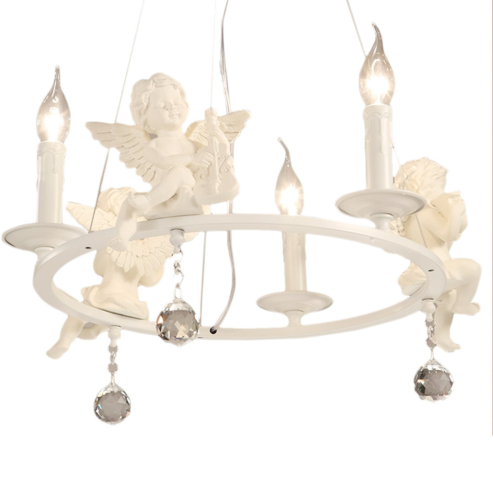aliexpresscom  buy american country chandelier angel shape  - aliexpresscom  buy american country chandelier angel shape chandelierswhite modern chandelier dining room bedroom lighting decor from reliabledecorative