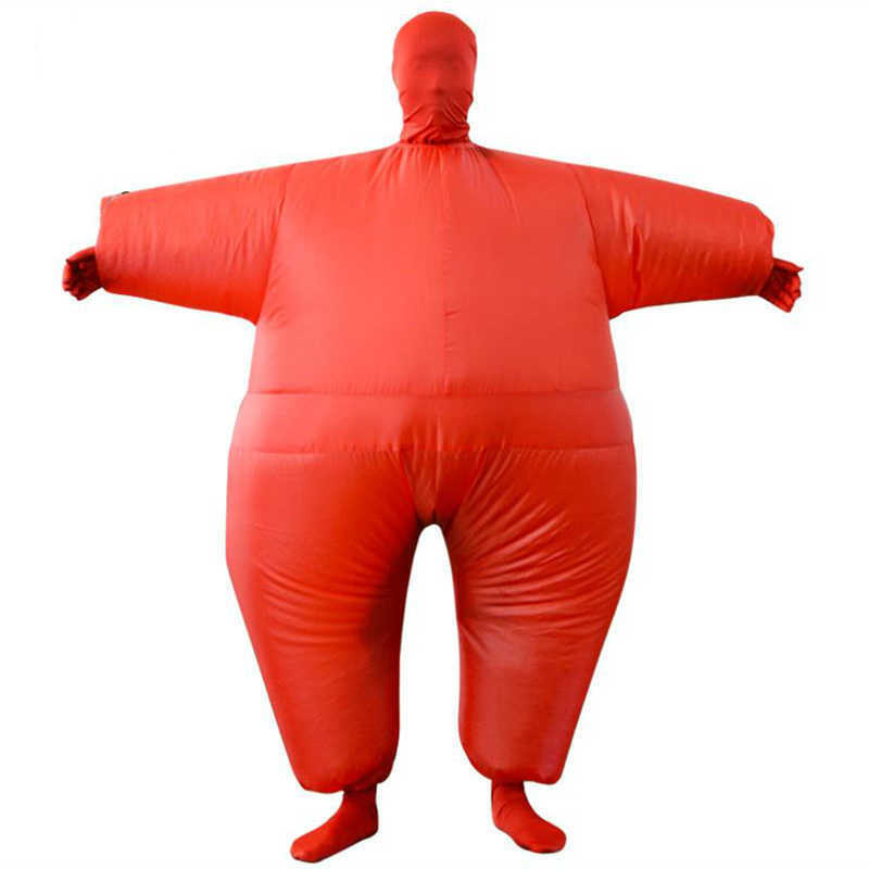 Взрослый Аниме Косплей чуб надувной костюм вспыхивающий цвет полный тело пати костюм комбинезон 9 цветов Хэллоуин Косплей костюмы