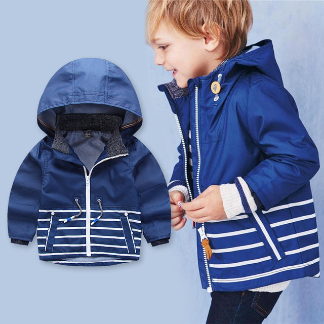 c6e1ca582 Children outerwear Coat Kids brand Autumn clothes Boys stripe jackets Kids  windbreaker waterproof hoodies baby jackets